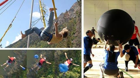 Trampoline, Base jump et Kinball
