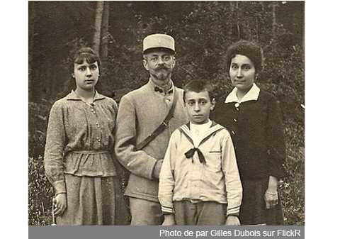 Alice, Albert et Maurice Dubois, Jeanne Touche